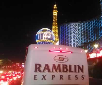 Ramblin Express Chartered Bus Trip to Las Vegas